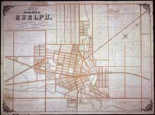 Early Map of Guelph Ontario